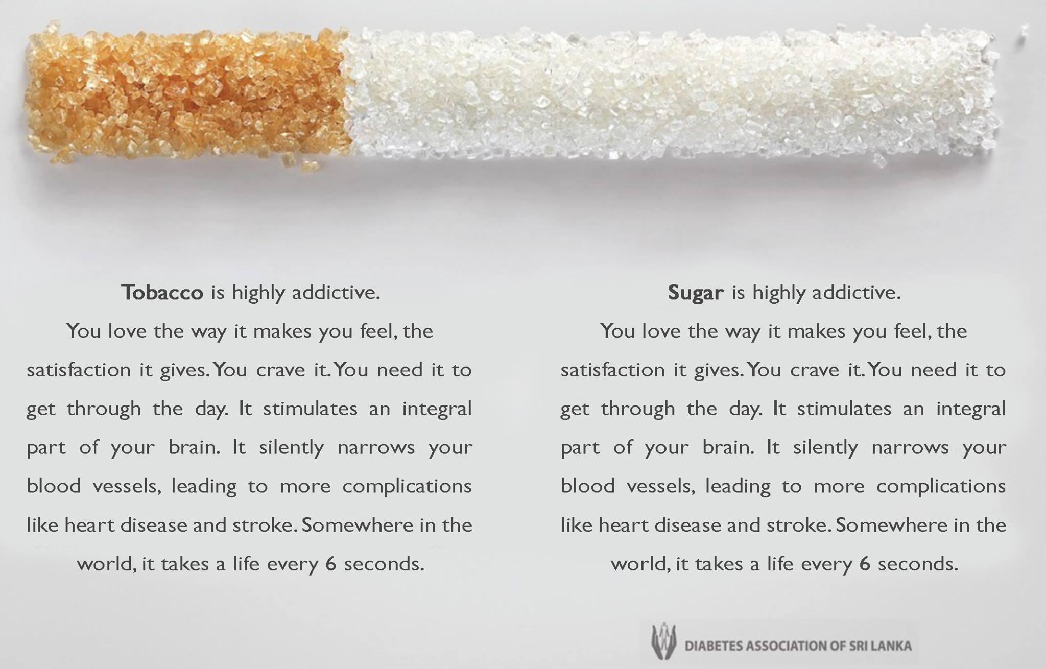 Suiker net zo slecht als roken?